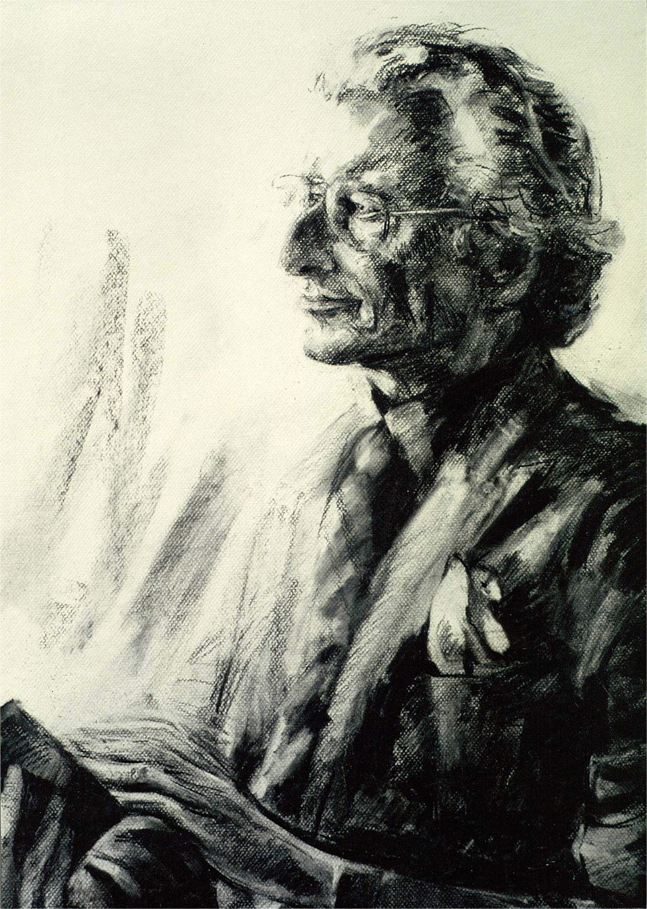 Houtskoolportretten Mieke Dillo